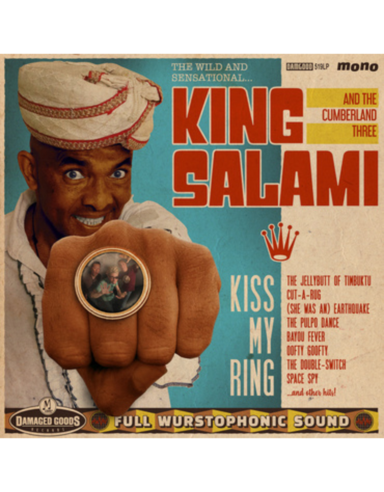 New Vinyl King Salami And The Cumberland Three - Kiss My Ring LP