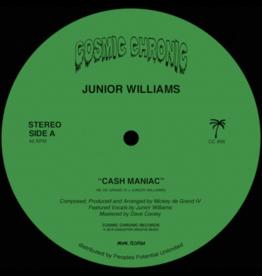 """New Vinyl Junior Williams - Cash Maniac 12"""""""