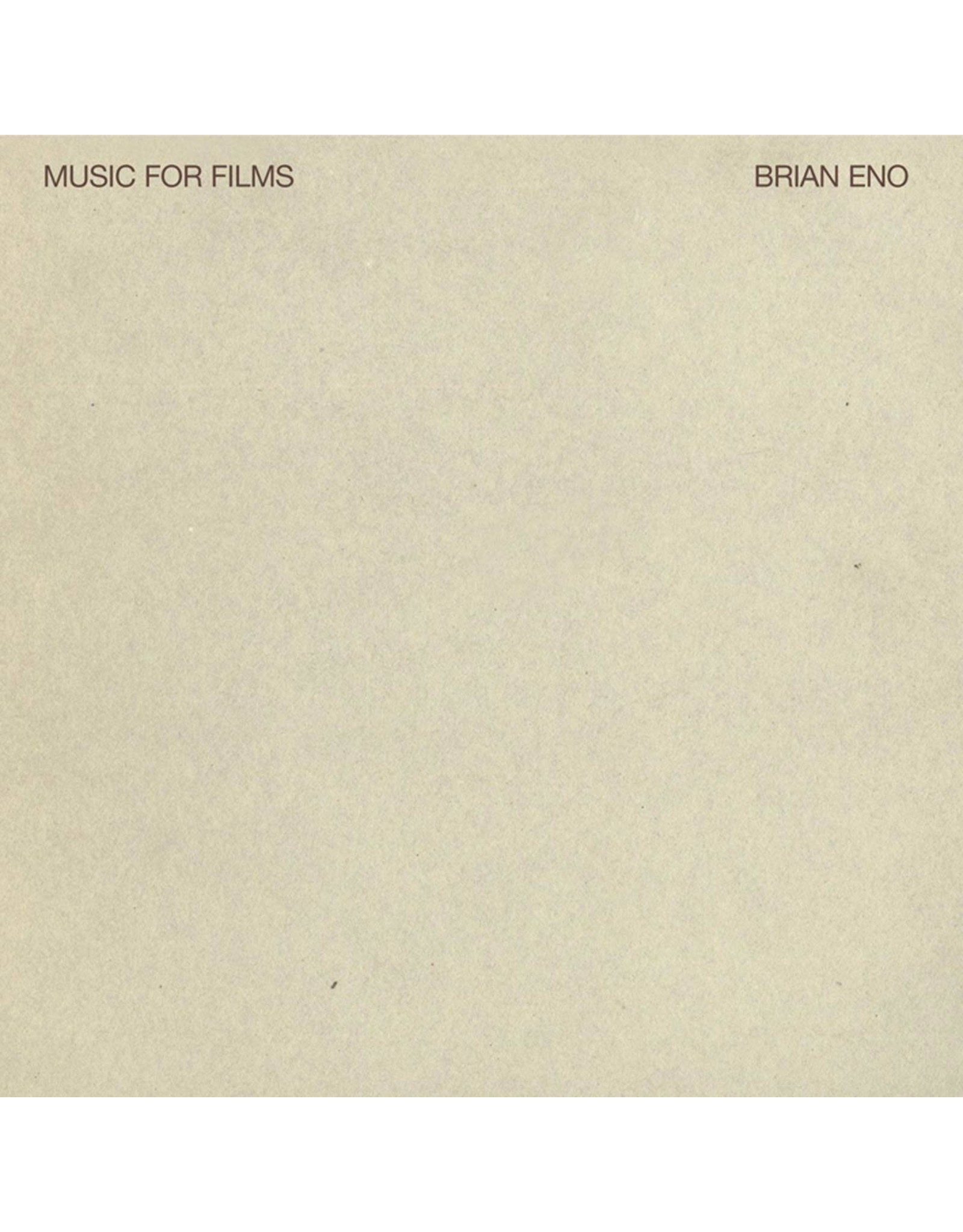New Vinyl Brian Eno - Music For Films LP