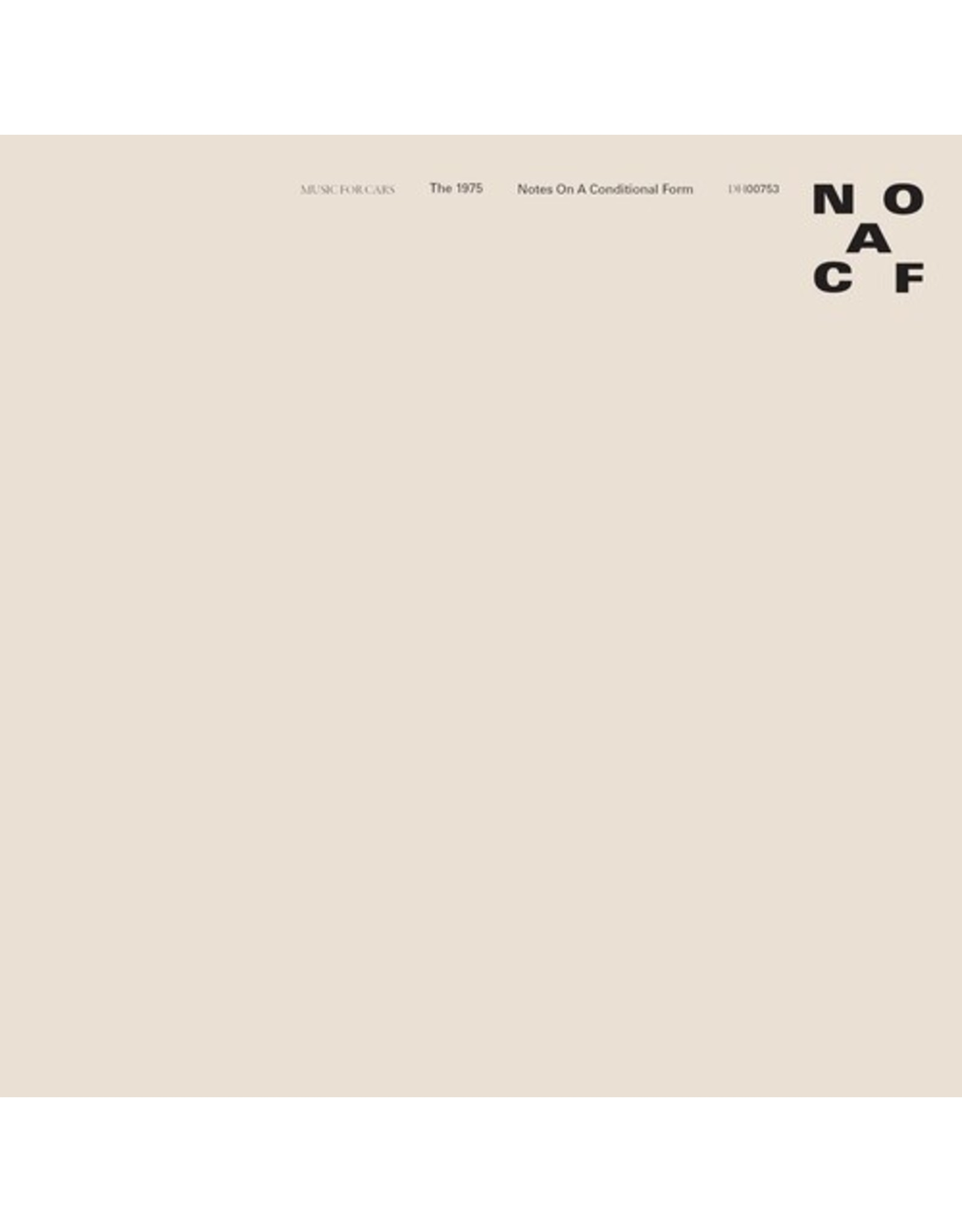 New Vinyl The 1975 - Notes On A Conditional Form (Clear) 2LP