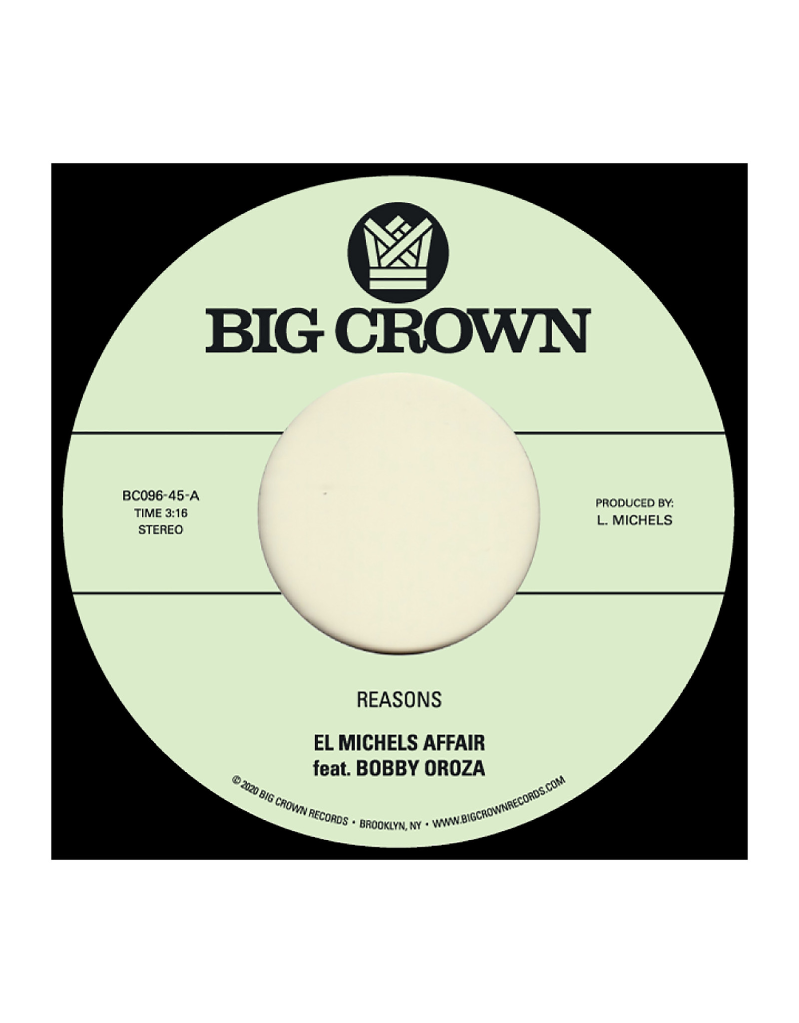 New Vinyl El Michels Affair Ft. Bobby Oroza - Reasons b/w Hipps 7""