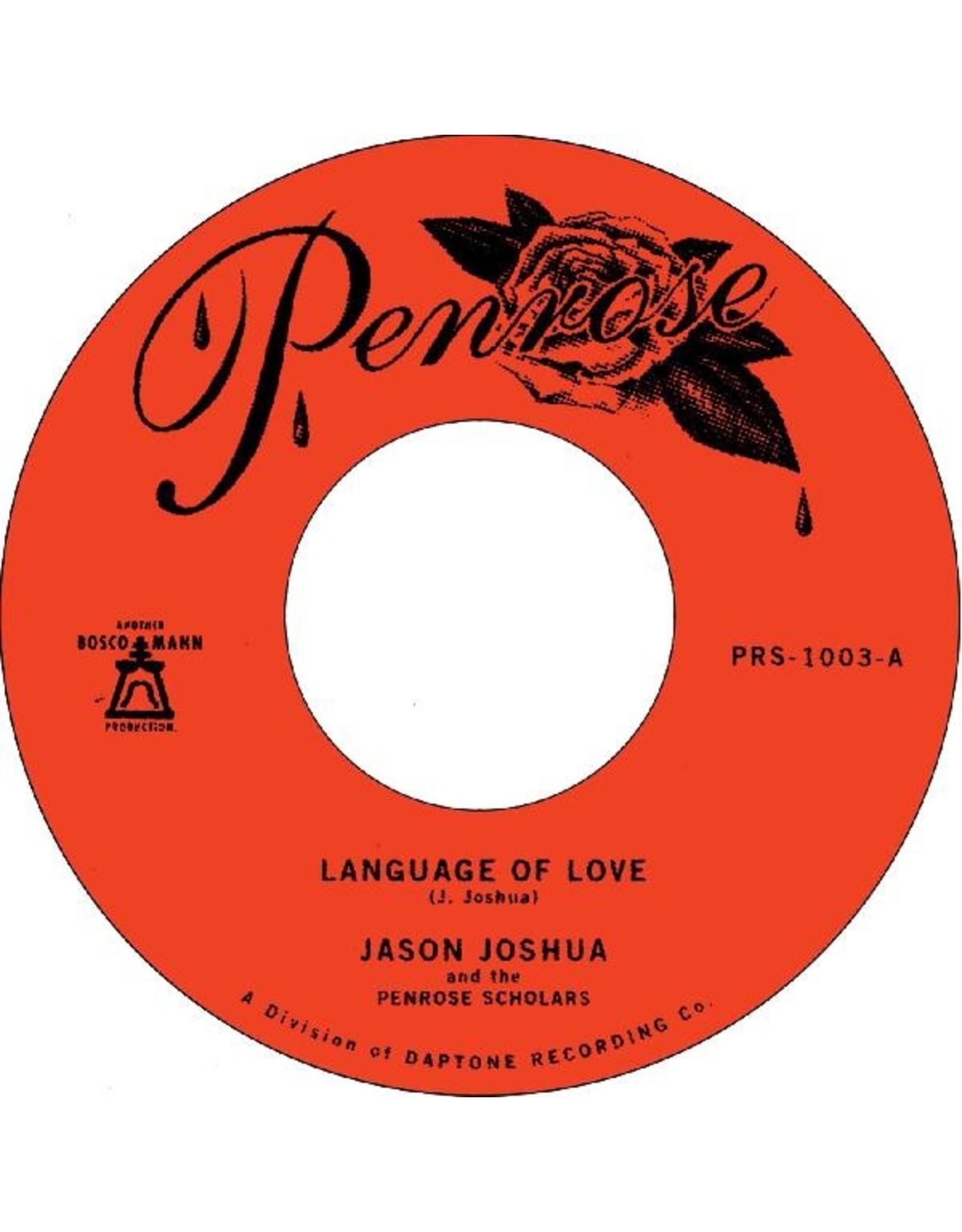 "New Vinyl Jason Joshua - Language Of Love b/w La Vida Es Fria 7"""