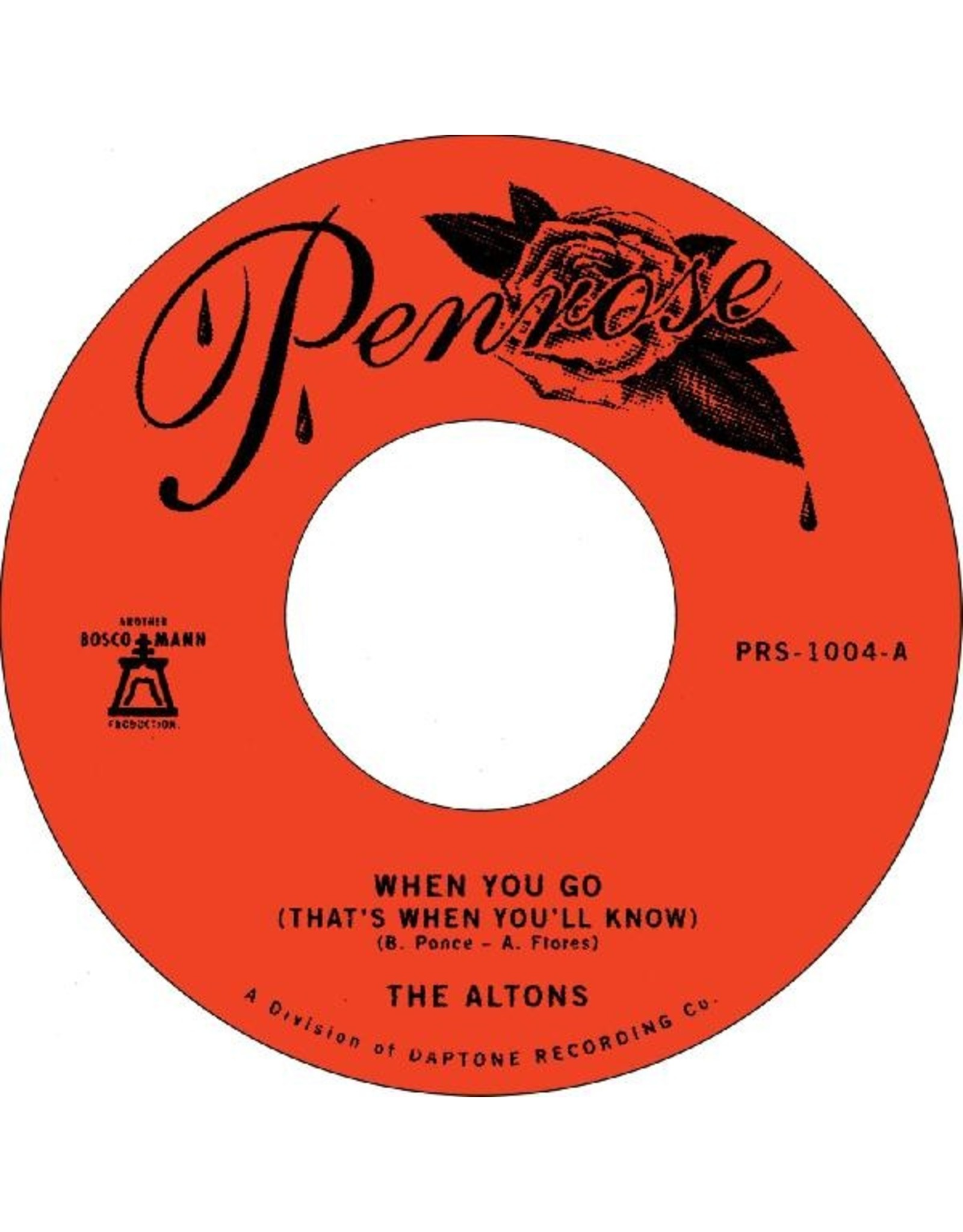 """New Vinyl The Altons - When You Go b/w Over & Over 7"""""""