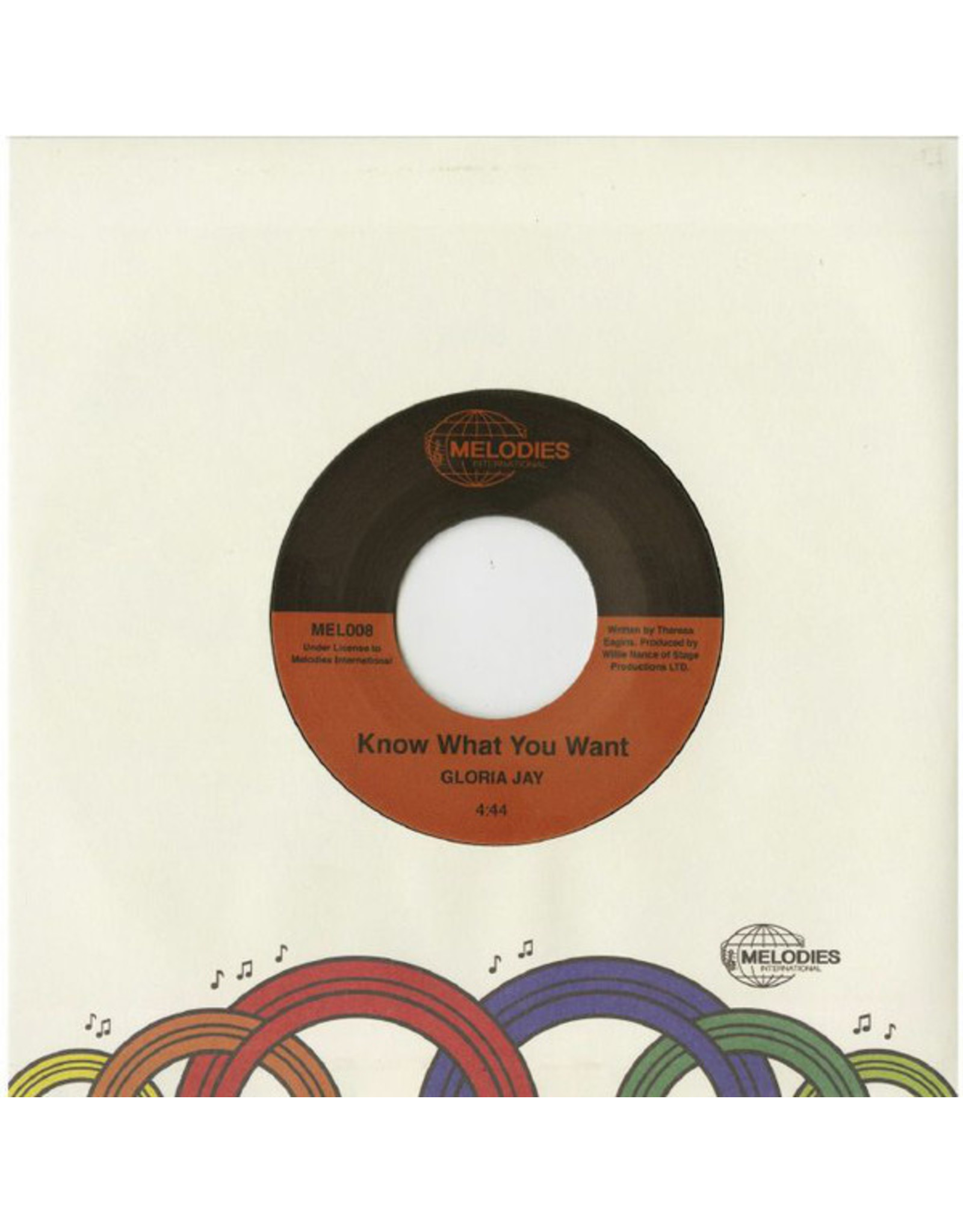 New Vinyl Gloria Jay - Know What You Want b/w I'm Gonna Make It 7""