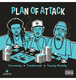 New Vinyl Curren$y, Trademark Da Skydiver & Young Roddy - Plan Of Attack (Colored) LP