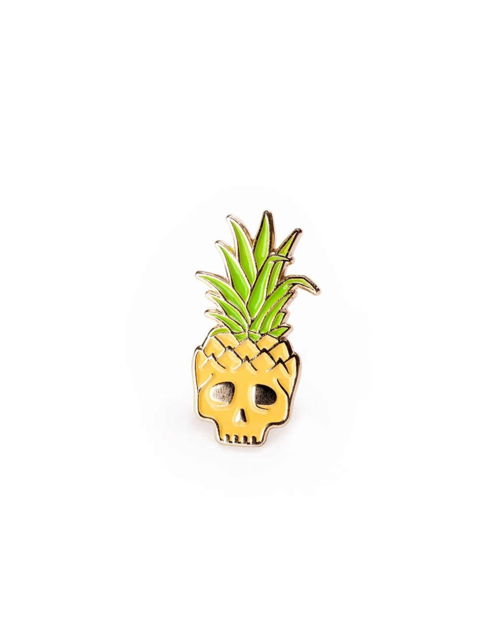 Enamel Pin Pineapple Skull Enamel Pin
