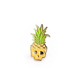 Enamel Pin Pineapple Skull Enamel Pin