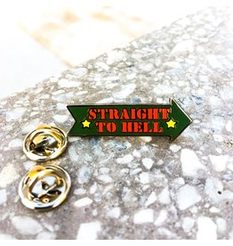 Enamel Pin Straight To Hell Clash Enamel Pin