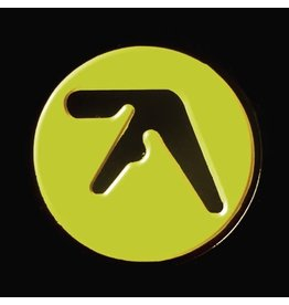 Enamel Pin Aphex Twin Logo Enamel Pin (Black on Yellow)