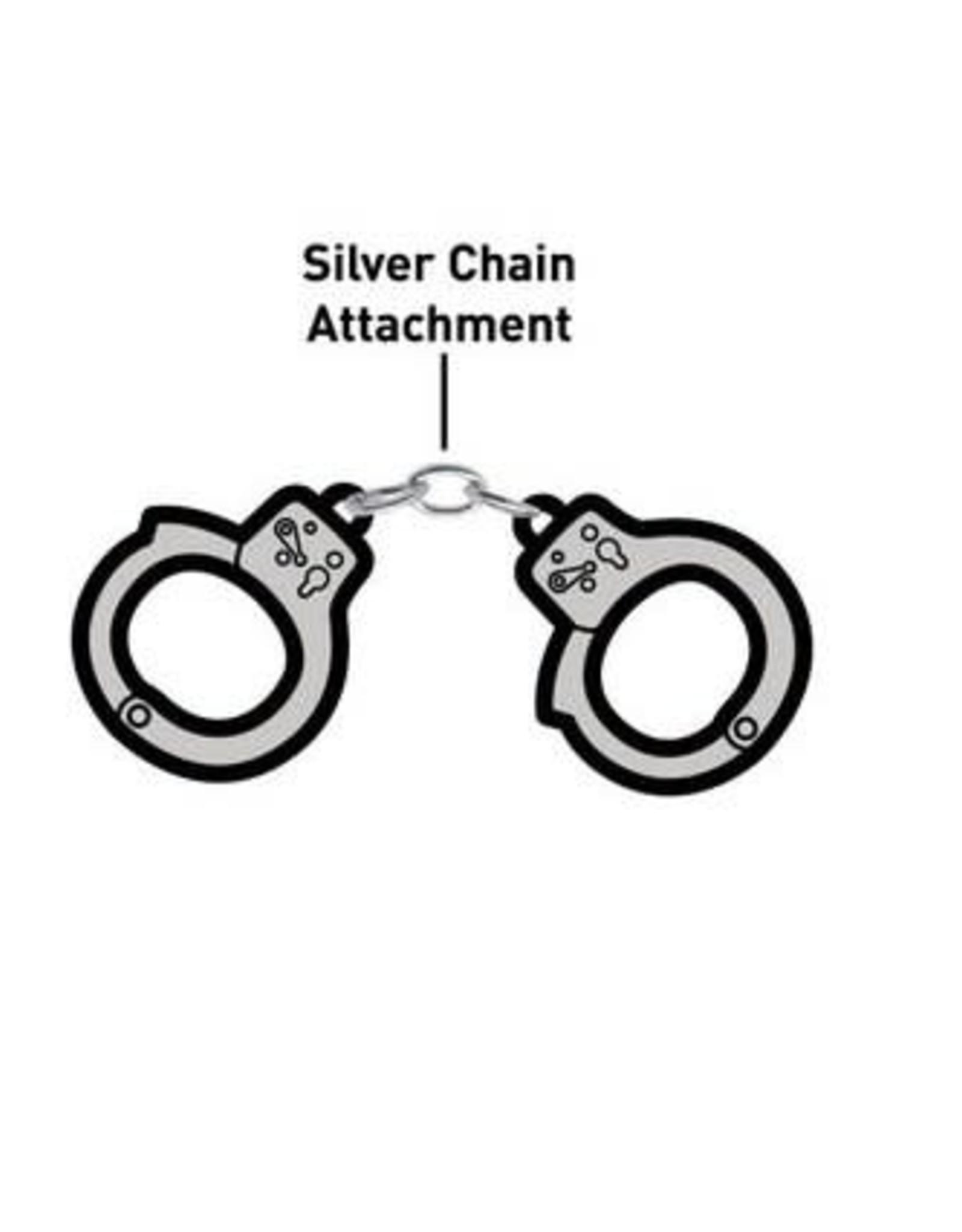 Enamel Pin Handcuffs Linked Enamel Pin
