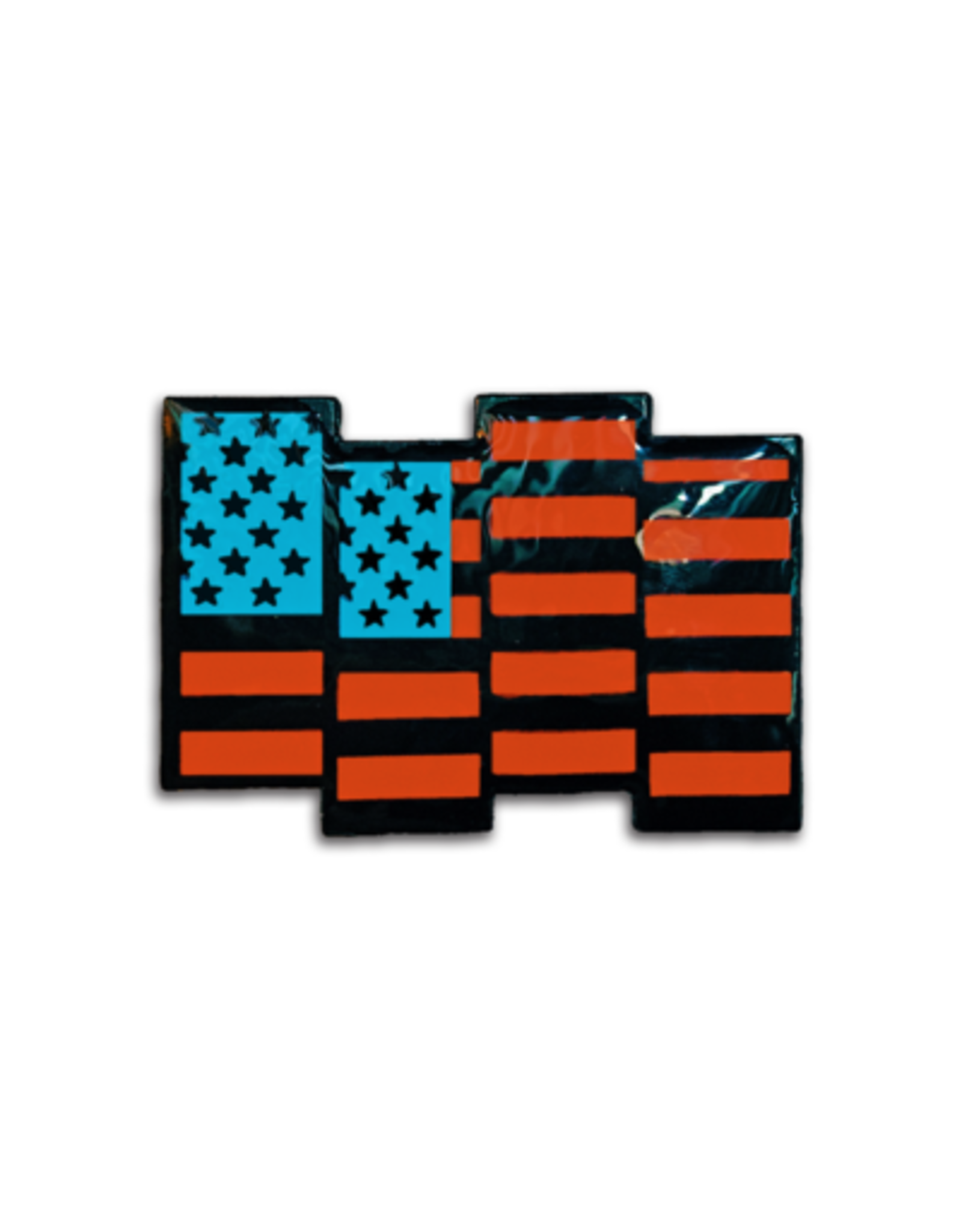 Enamel Pin Black Flag USA Enamel Pin