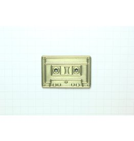 Enamel Pin Gold Cassette Enamel Pin