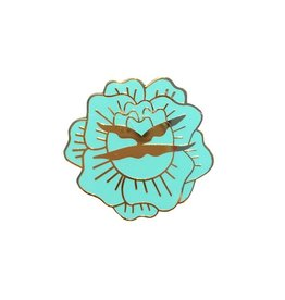 Enamel Pin Blue Flower Enamel Pin