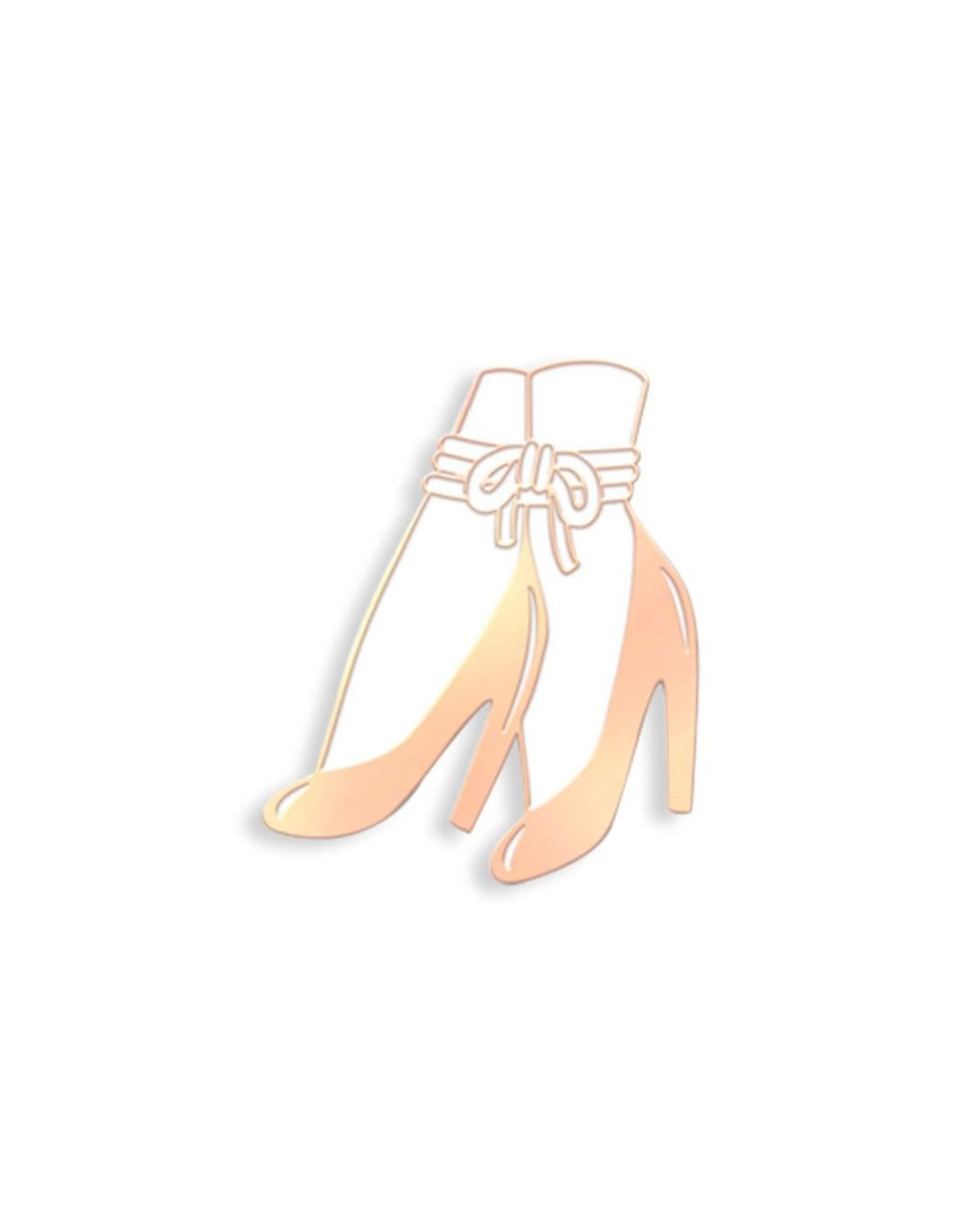 Enamel Pin Bound Ankles Heels Enamel Pin