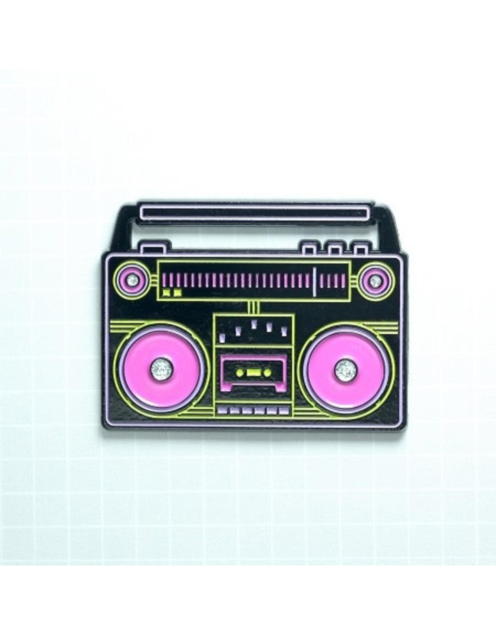 Enamel Pin Neon Boombox Enamel Pin
