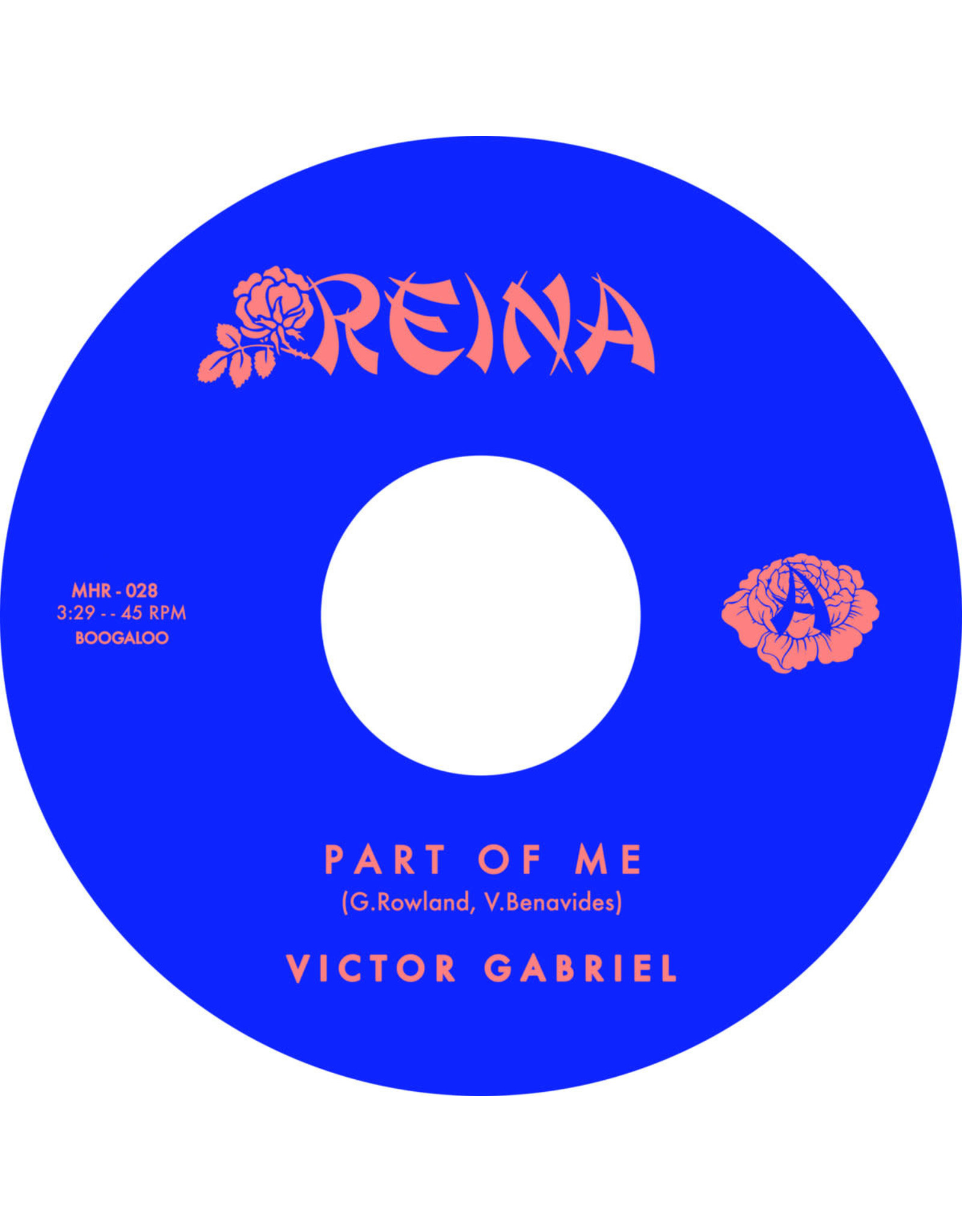 "New Vinyl Victor Gabriel - Part Of Me 7"""