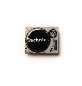 Enamel Pin Technics Spinning Turntable Enamel Pin