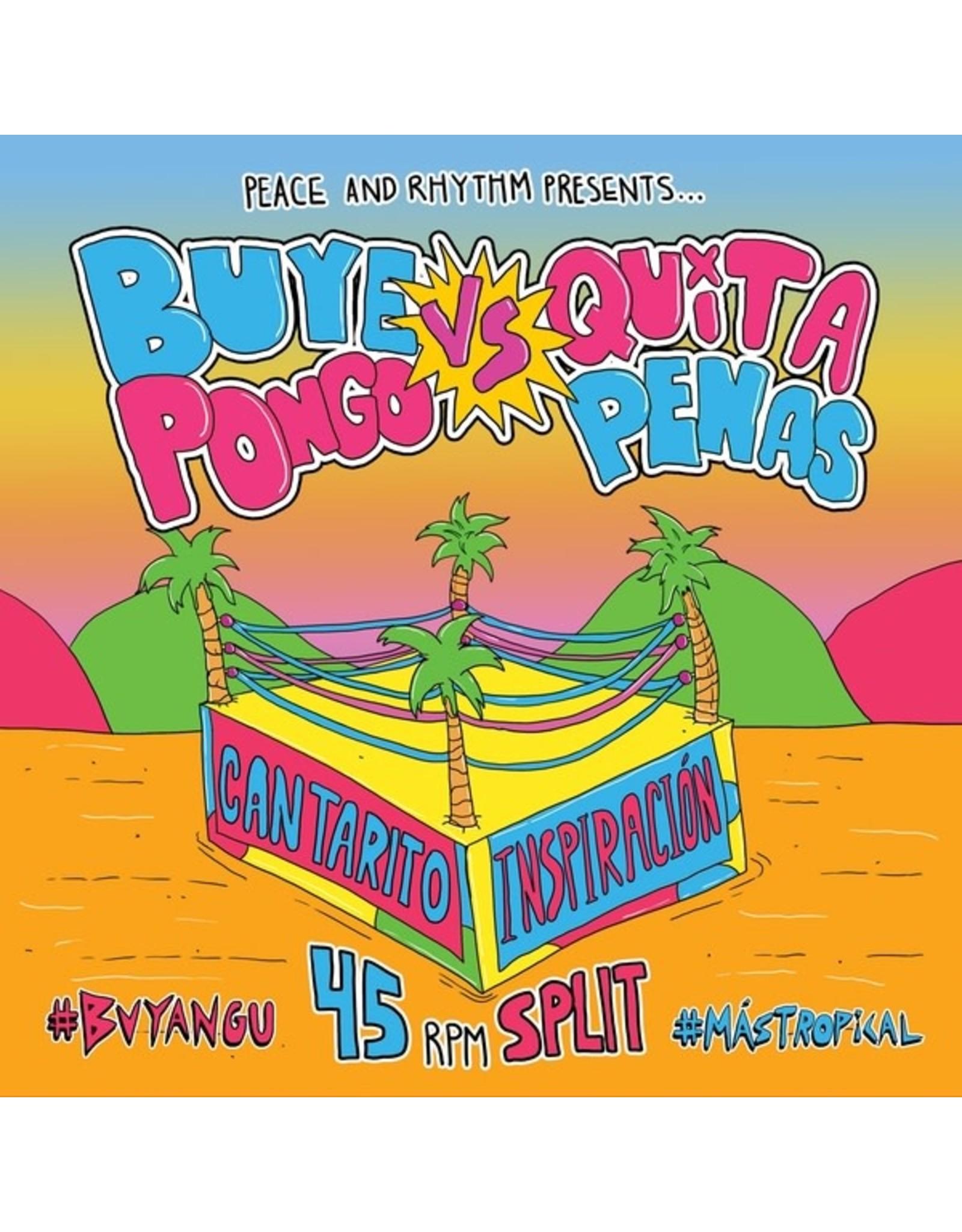"""New Vinyl Buyepongo vs Quitapenas - Split 7"""""""