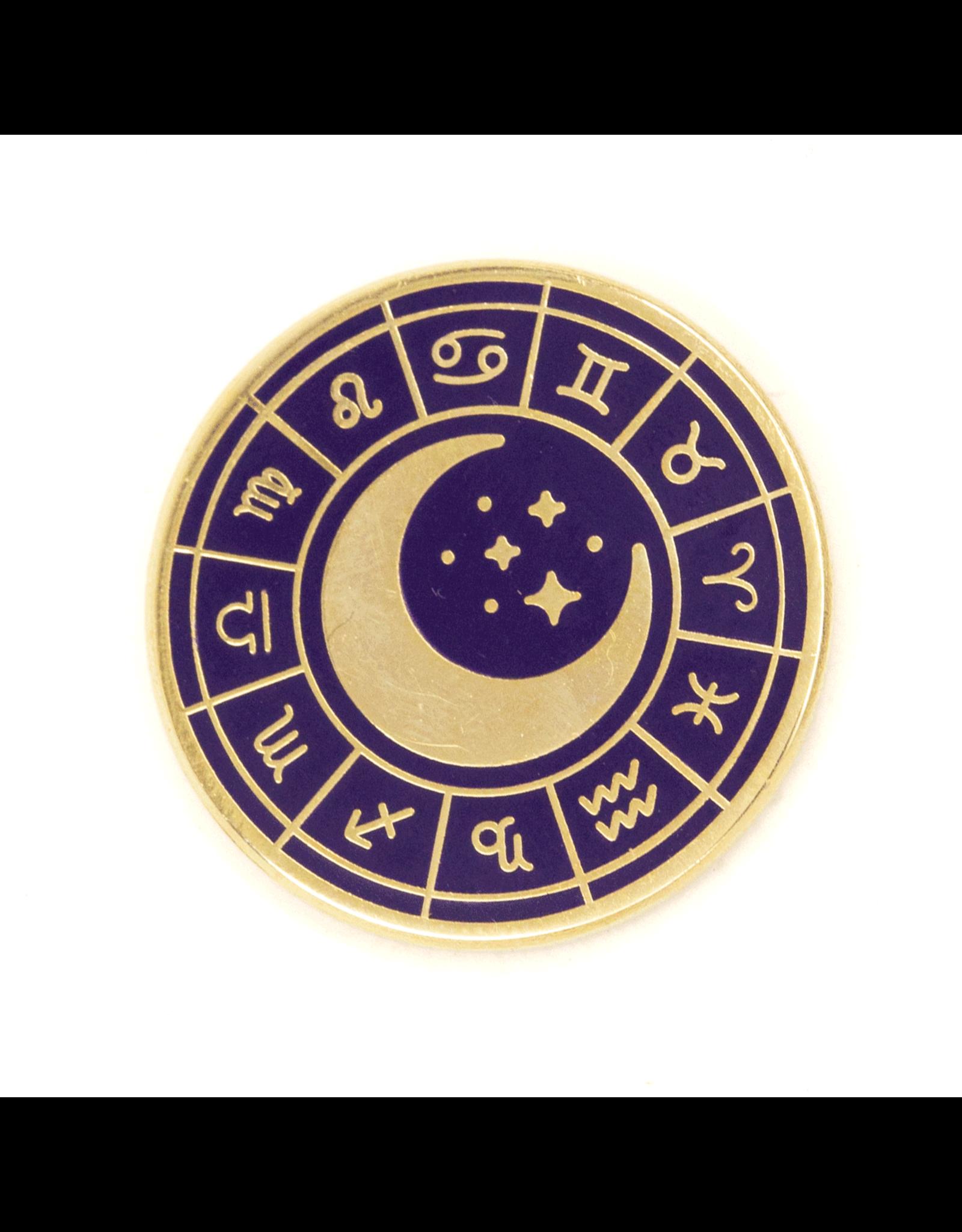 Enamel Pin Zodiac Wheel Enamel Pin