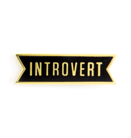 Enamel Pin Introvert Enamel Pin