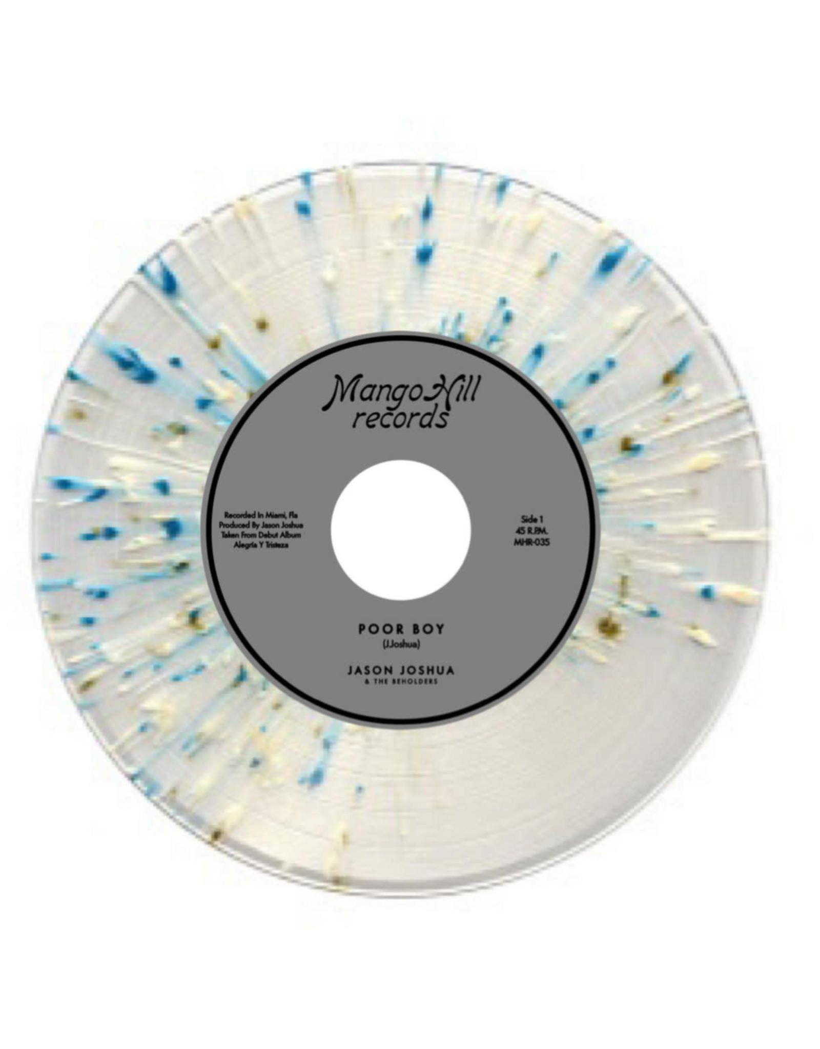 "New Vinyl Jason Joshua & The Beholders - Poor Boy / I Don't Care (Clear Blue Silver Splatter) 7"""
