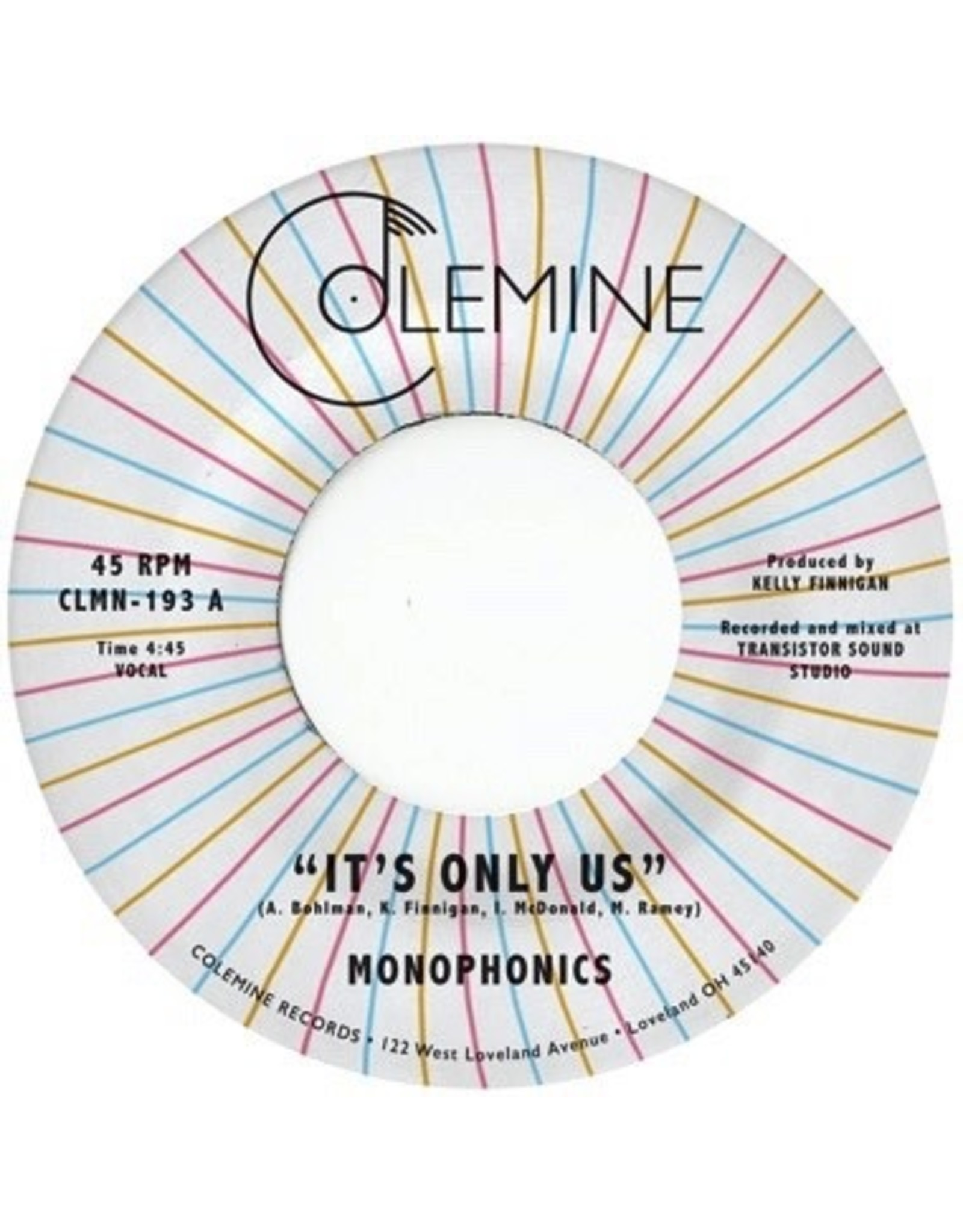 New Vinyl Monophonics - It's Only Us (Colored) 7""