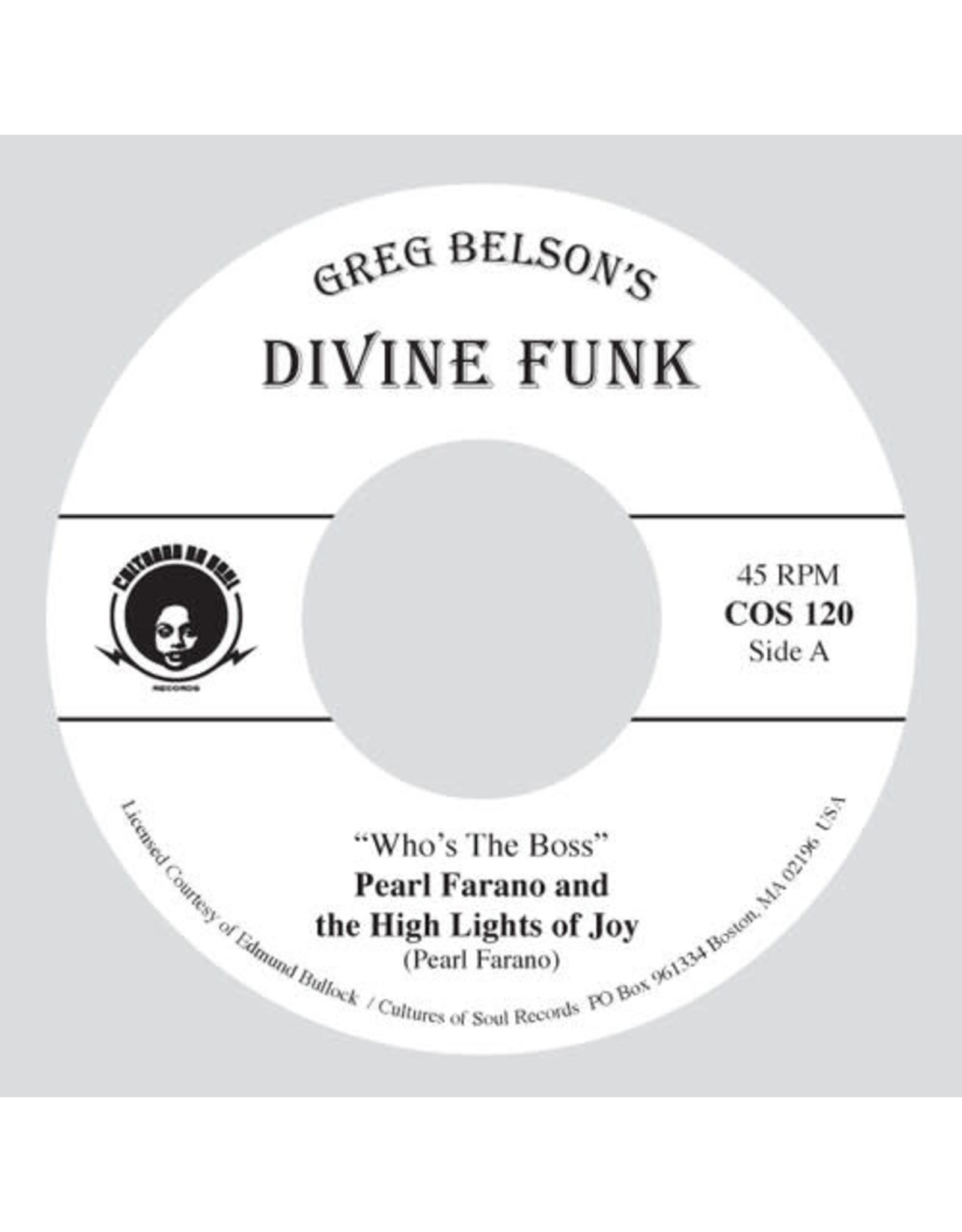 """New Vinyl Pearl Farano / Zella Jackson - Who's Your Boss / Days Are Just Like People 7"""""""