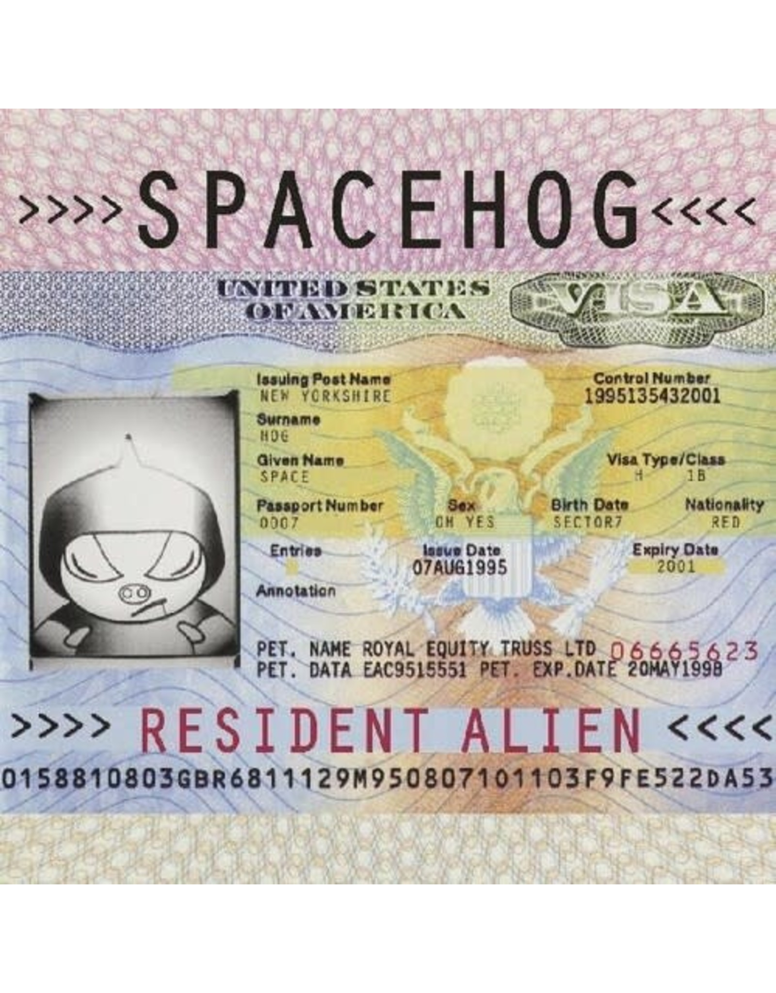 New Vinyl Spacehog - Resident Alien (Colored) 2LP