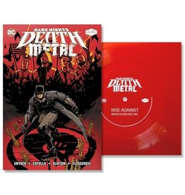 "New Vinyl Rise Against - Broken Dreams, Inc. (DC - Dark Nights: Death Metal Version) Comic/Flexi 7"""