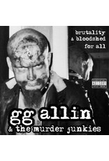 New Vinyl GG Allin & The Murder Junkies - Brutality & Bloodshed For All (Colored) LP