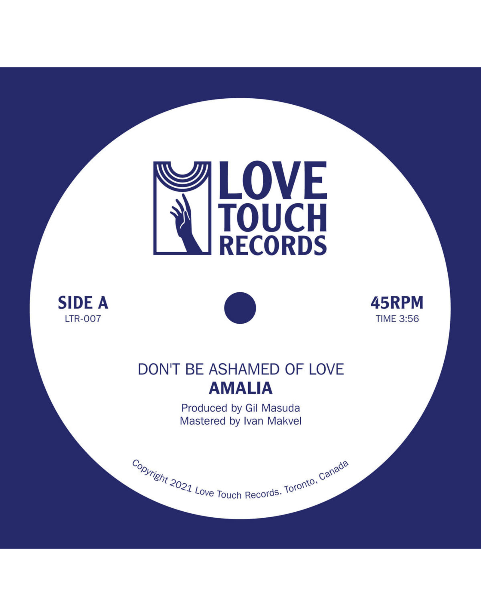 """New Vinyl Amalia - Don't Be Ashamed Of Love b/w In My Bed 7"""""""