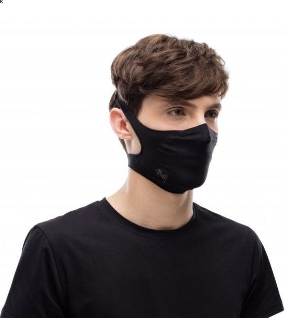 Buff Filter Mask - Solid Black