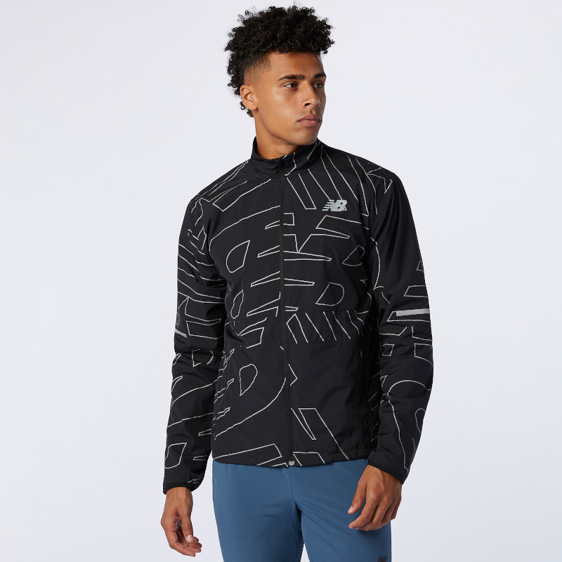 New Balance Men's Reflective Accelerate Protect Jacket