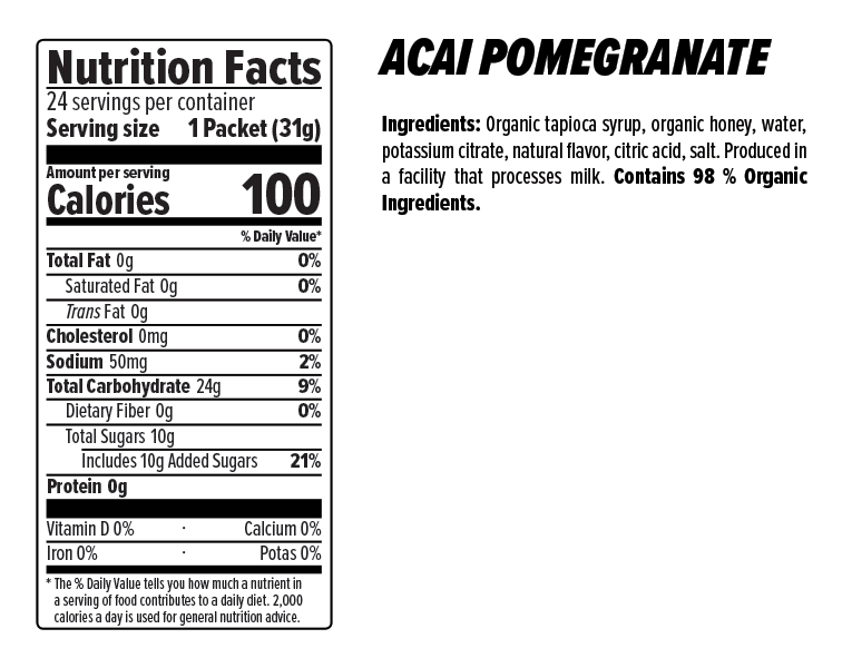 Honey Stinger Gel Case (24) - Acai & Pomegranate