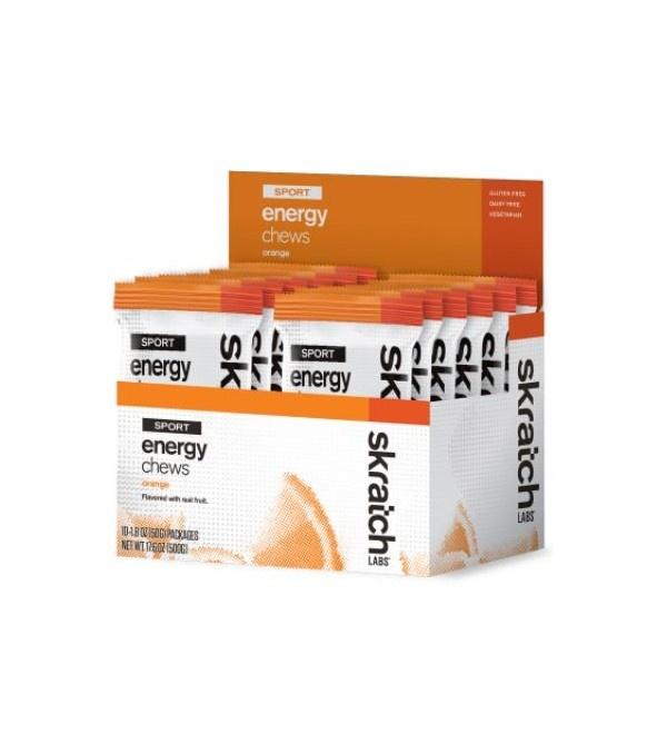Skratch Labs Energy Chews Case (10) - Orange