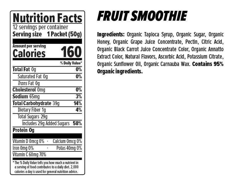 Honey Stinger Energy Chews Case (12) - Fruit Smoothie