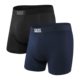Saxx Ultra Boxer Brief 2 Pack - Black/Navy