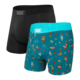 Saxx Ultra Boxer Brief 2 Pack - Coconut Drinks/Black