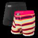 Saxx Vibe Boxer Brief 2 Pack - Fruity Stripe/Black