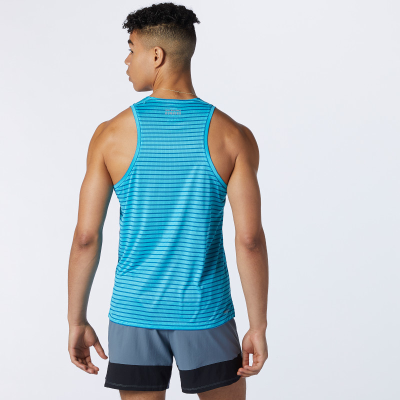New Balance Men's Printed Impact Run Singlet