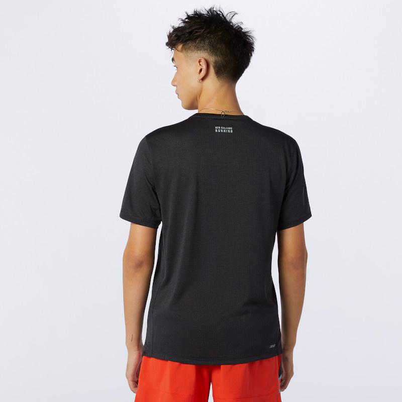 New Balance Men's Printed Impact Run Short Sleeve
