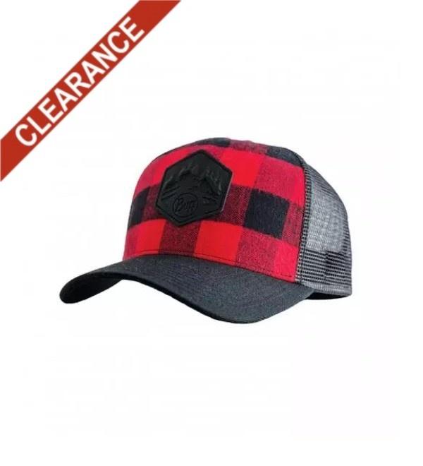 Buff Trucker Hat - Red Plaid
