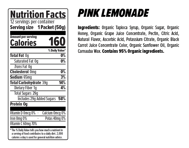Honey Stinger Energy Chews Case (12) - Pink Lemonade
