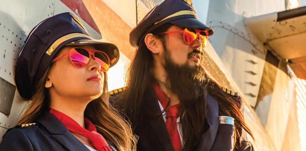 Mach G Goodr Running Sunglasses - Captain Blunt's Red-Eye