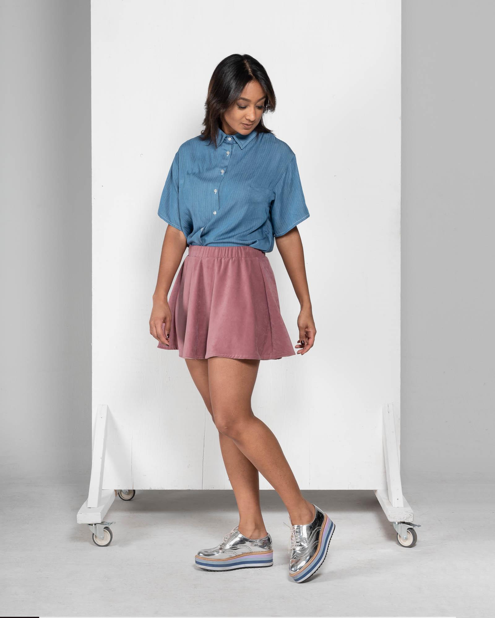 Lily - denim shirt-1