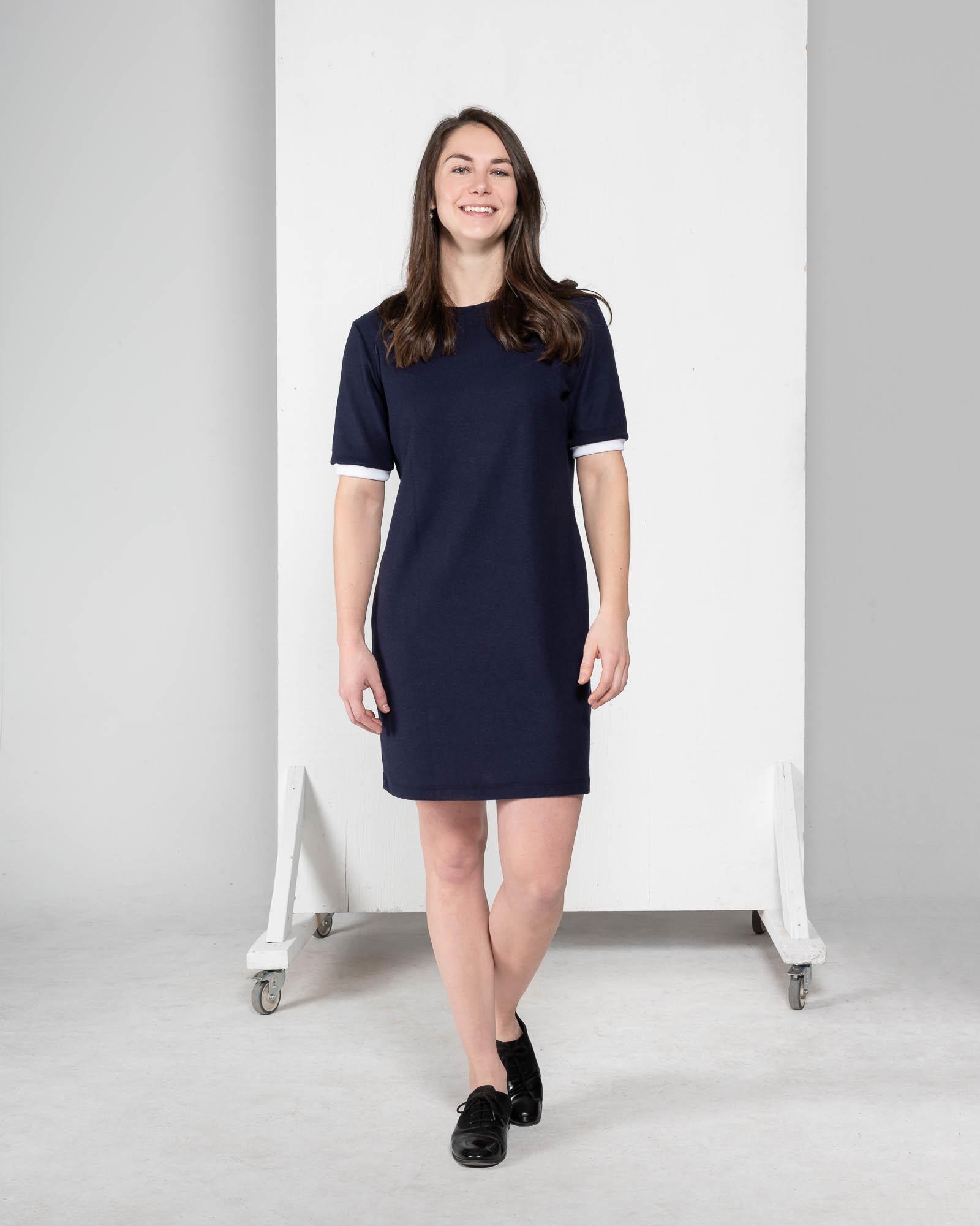 Sage - robe à manches courtes-1