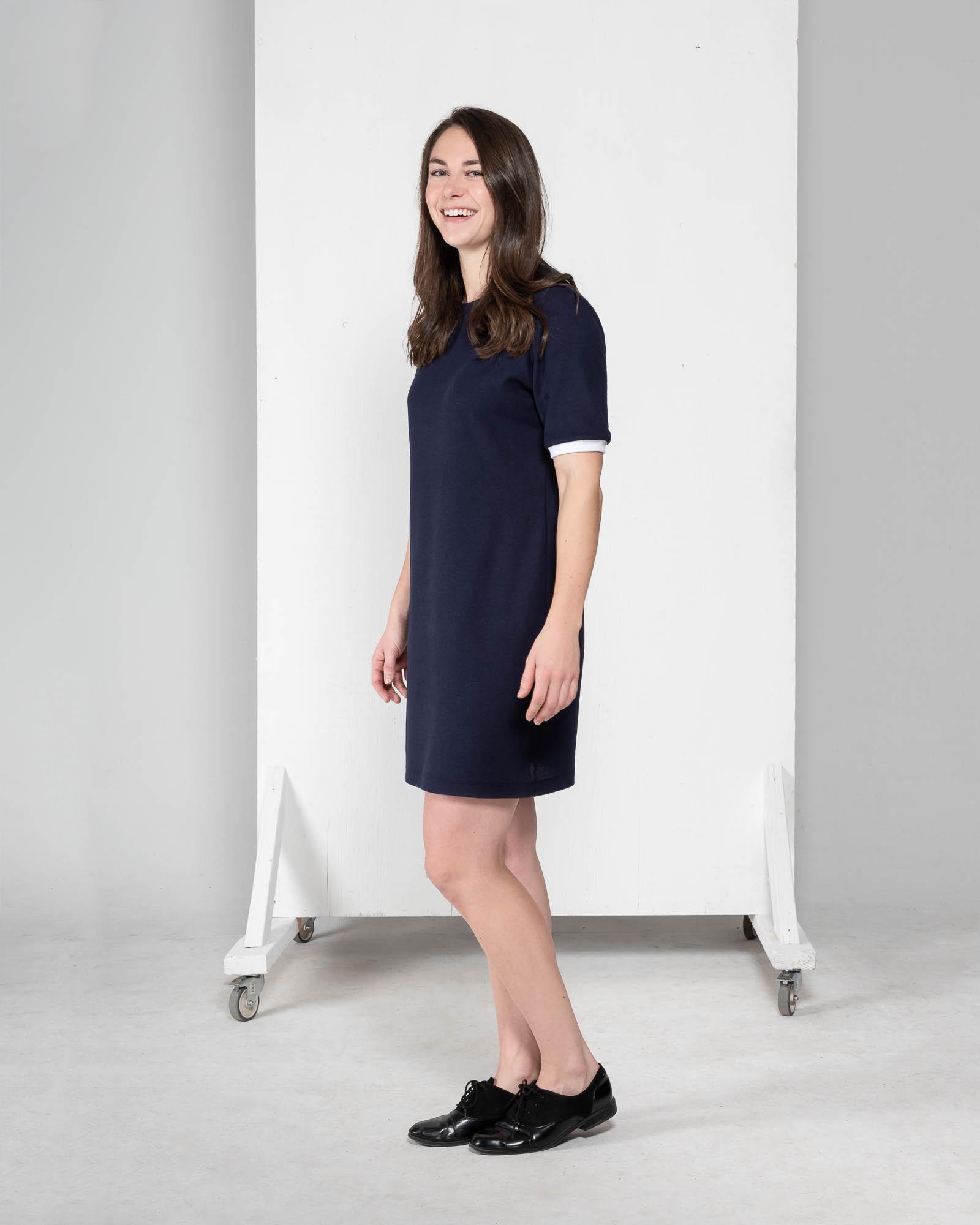 Sage - robe à manches courtes-3