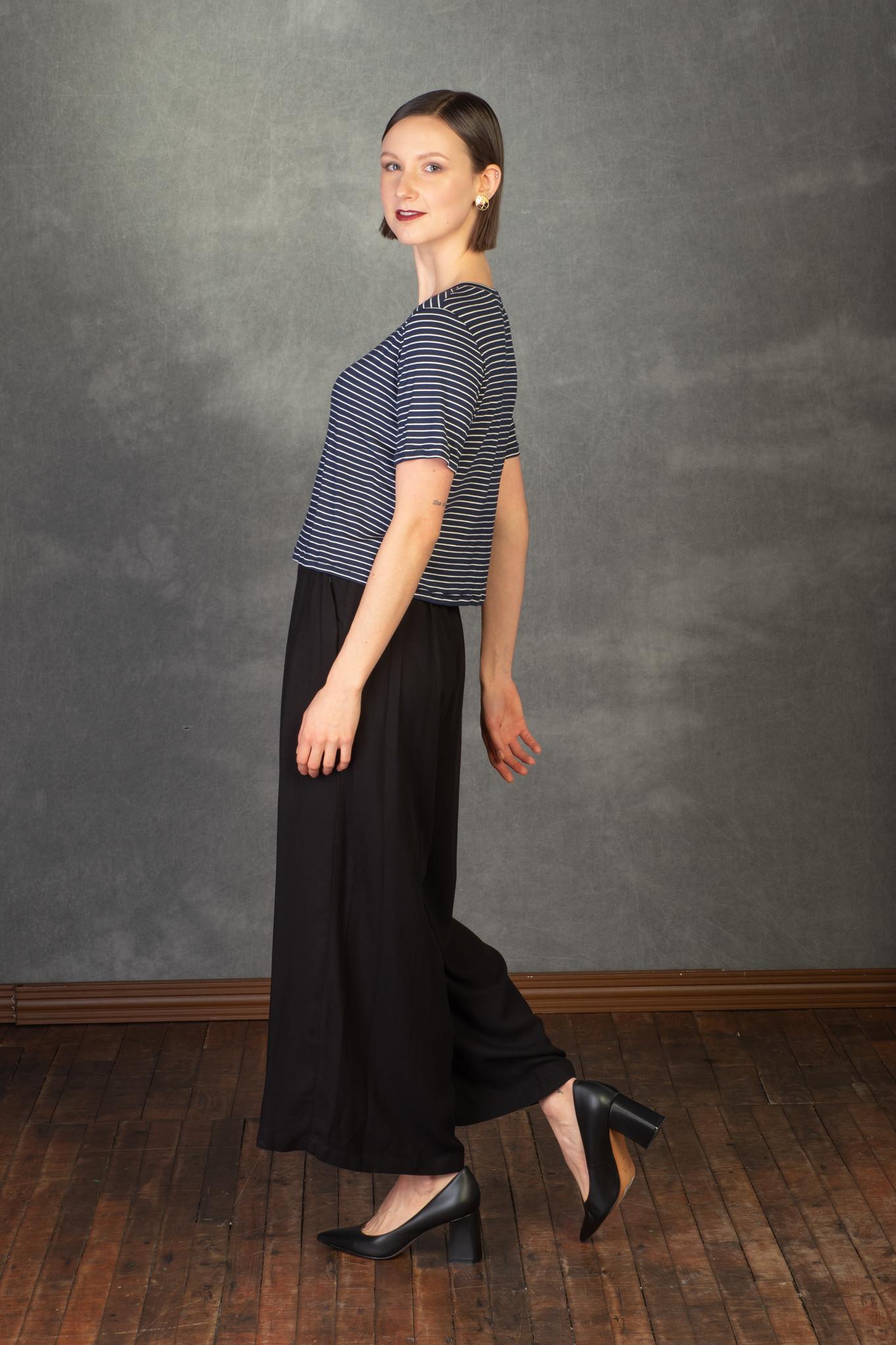 Ayla - t-shirt  blue-2