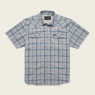 Howler Brothers H Bar B Tech Shirt Portella Plaid Pigeon Grey