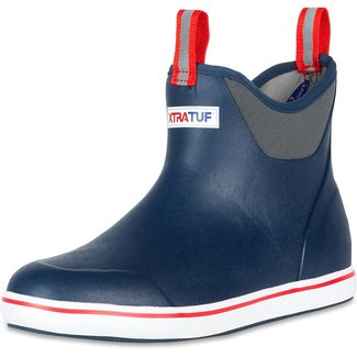 XtraTuff Men's 6in Ankle Deck Boot Nvy/Red
